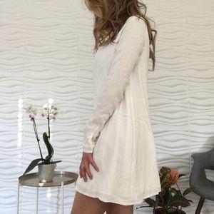 Tobi White Long Sleeve Dress